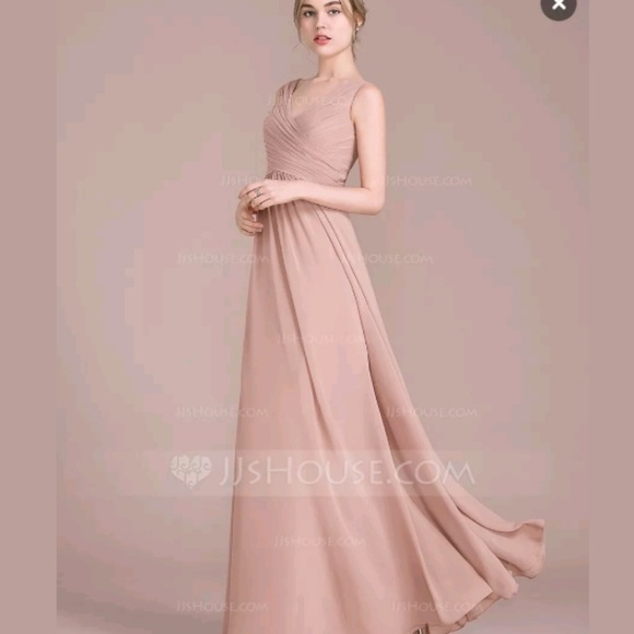 Jj House Dresses Formal Dress Chiffon In Dusty Rose Poshmark